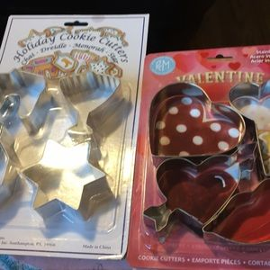 Holiday and valentine cookie cutters